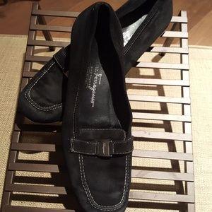 Vintage Salvatore Suede Flat Loafers SZ 7